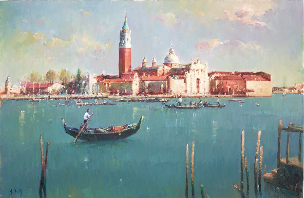 Gondolas in Venice by helios -  sized 30x20 inches. Available from Whitewall Galleries
